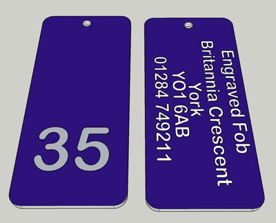 Engraved products, hotel and locker number plates and discs
