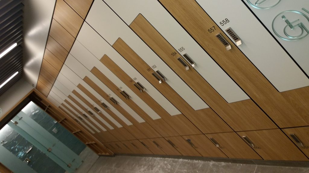 Z Shaped lockers with digilocks